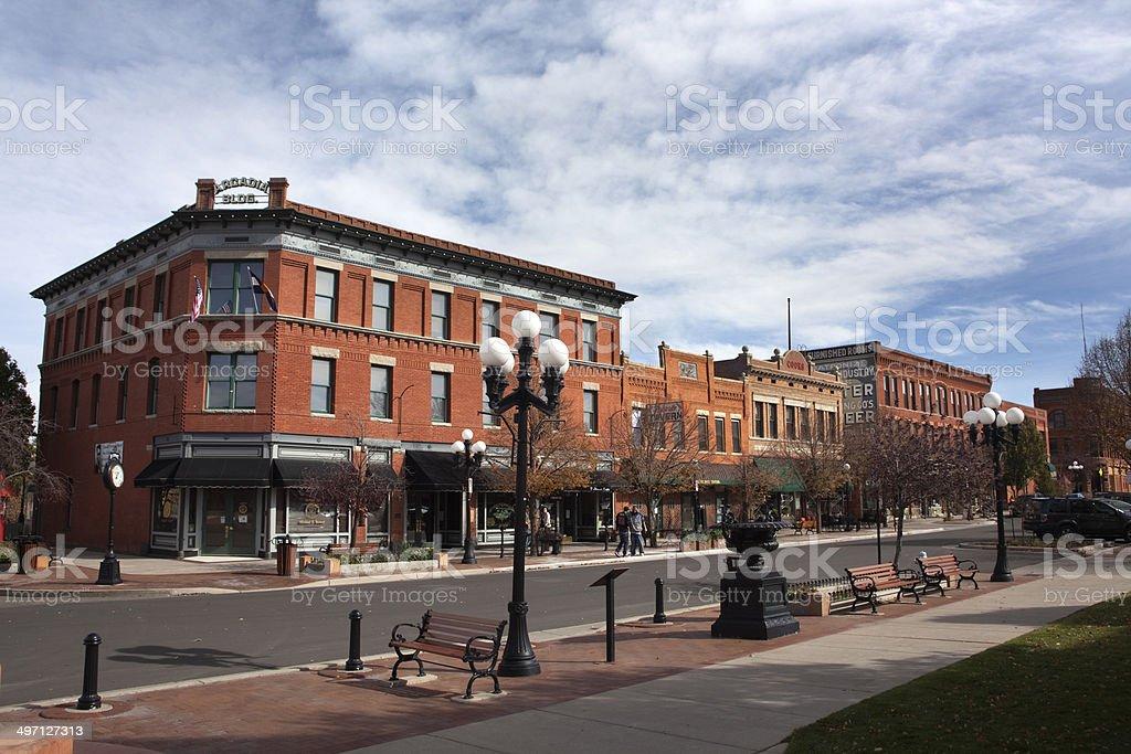 South Pueblo Colorado Union Avenue Historic District stock photo