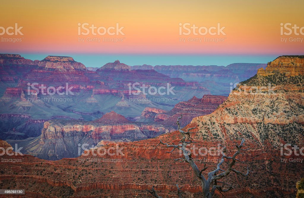 South Rim Grand Canyon stock photo