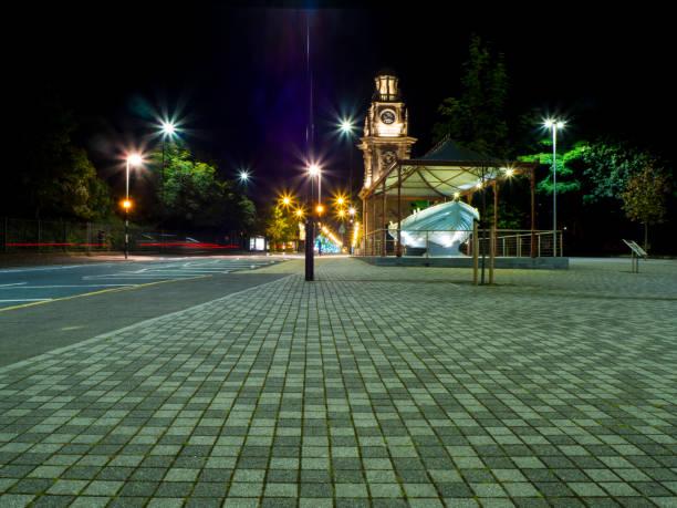 South Shields Clocktower & Life Boat Monument stock photo