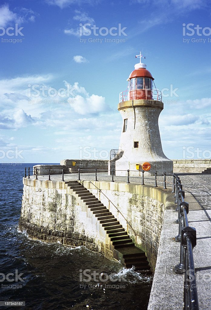 South Shields' south pier royalty-free stock photo