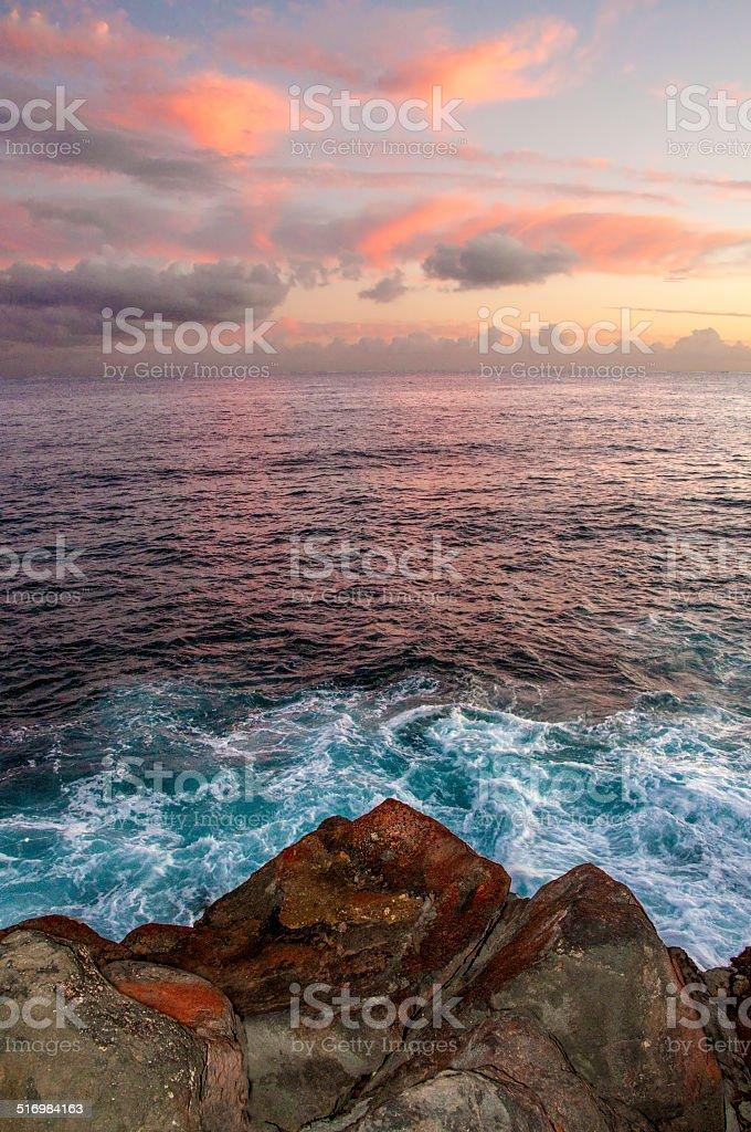 South Shore Kauai Light stock photo