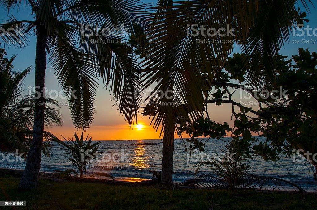 South Shore Sunset stock photo