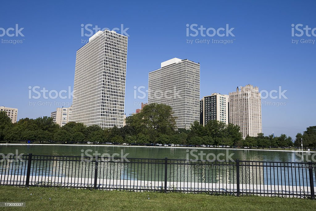 South Side Chicago Apartments royalty-free stock photo