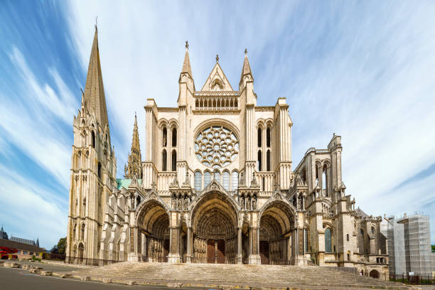 South side of Chartres Cathedral stock photo