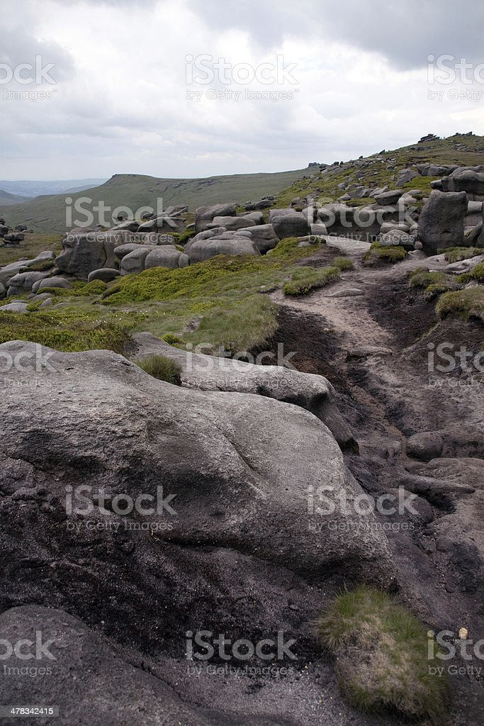South side of Kinder Scout, Peak District UK royalty-free stock photo