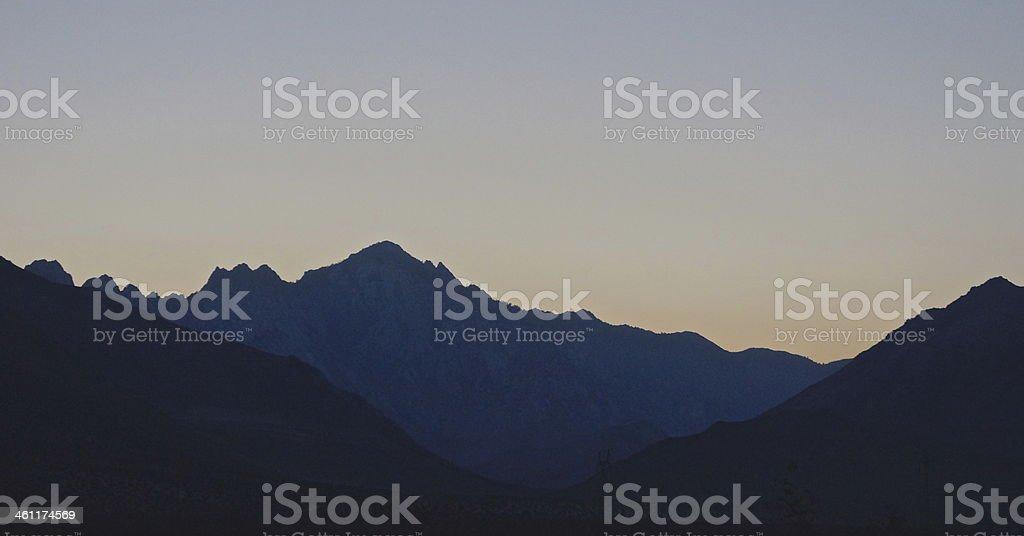 South Sierra Dusk stock photo