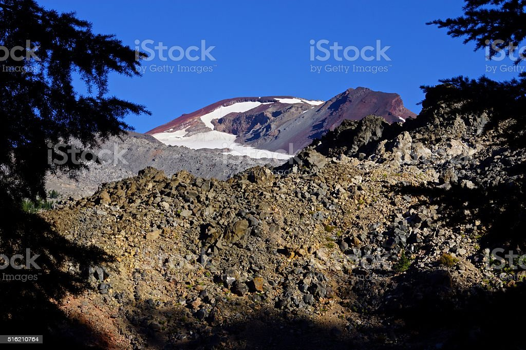 South Sister Obsidian stock photo