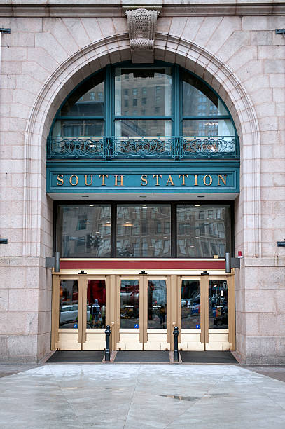 South Station stock photo