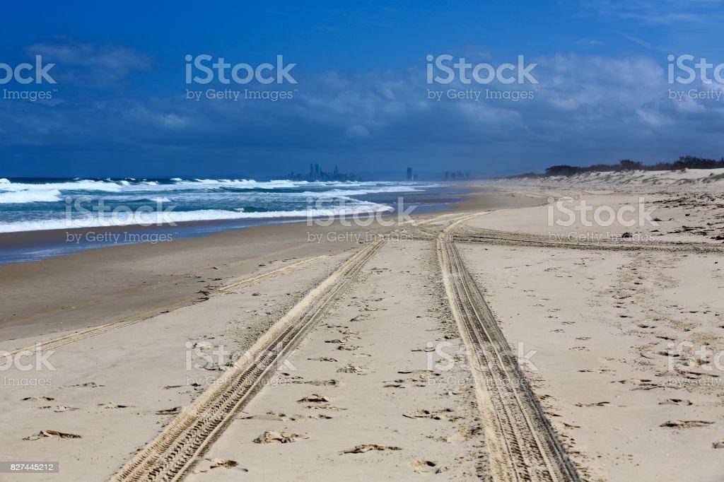 South Stradbroke Island in Queensland stock photo