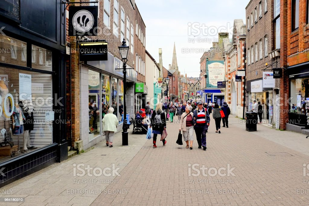 South Street, Dorchester, Dorset, UK. stock photo