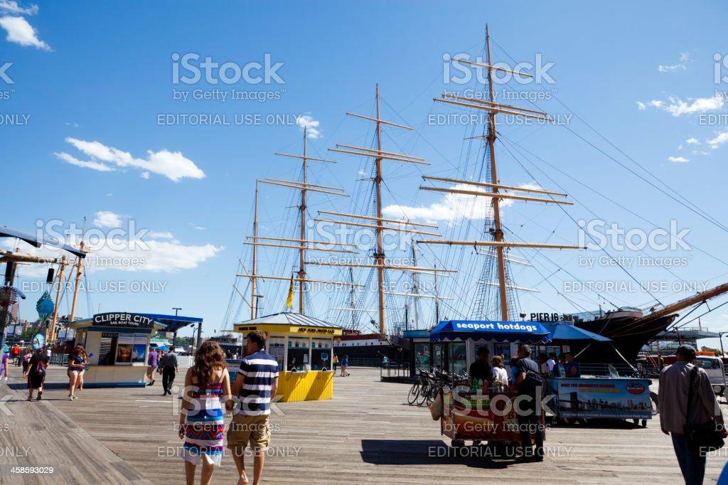 South Street Seaport New York City royalty-free stock photo