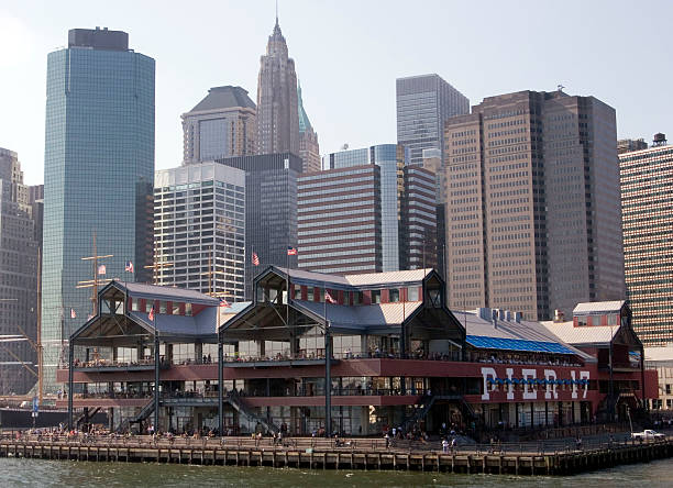 South Street Seaport Pier 17 at south street seaport NYC south street seaport stock pictures, royalty-free photos & images