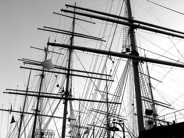 South Street Seaport Masts of the Peking south street seaport stock pictures, royalty-free photos & images