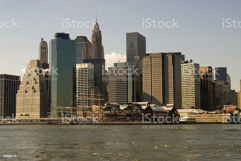 South Street Seaport Skyline stock photo