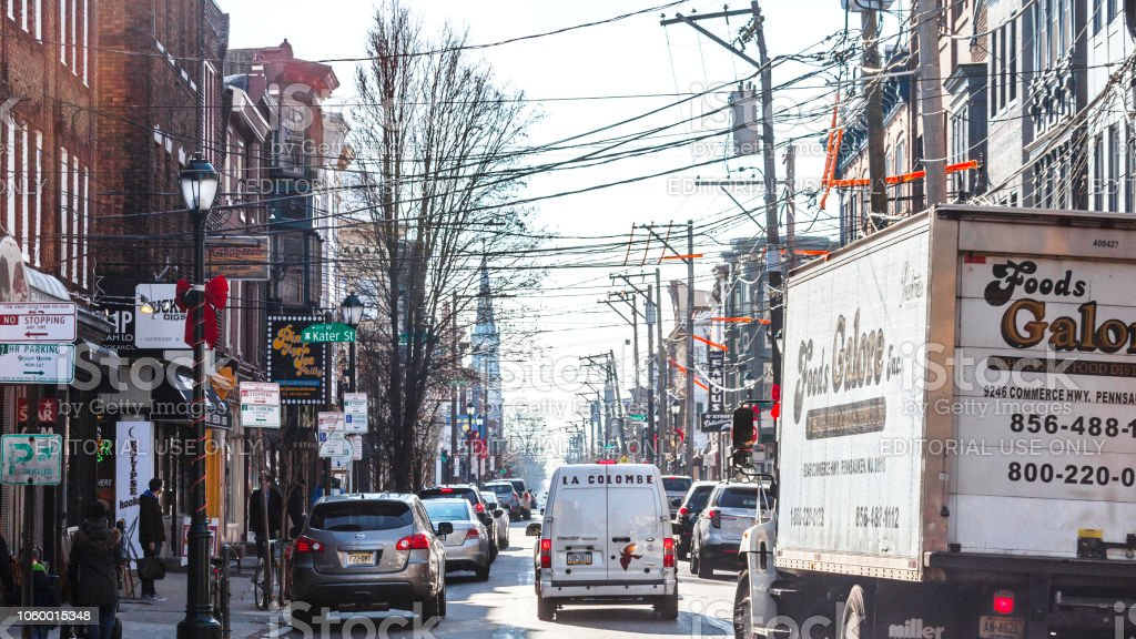 South Street traffic, Philadelphia stock photo