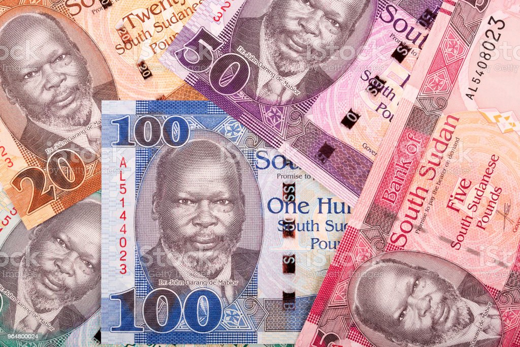 South Sudanese money, a background royalty-free stock photo