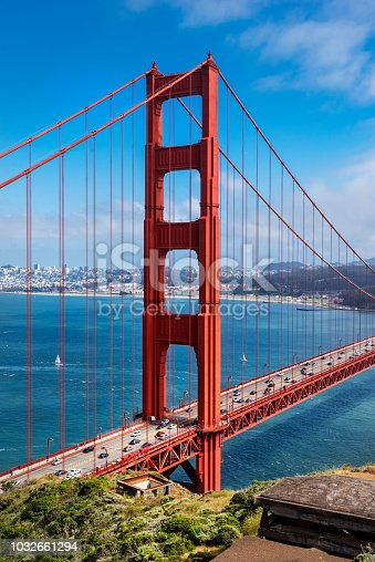 530755444 istock photo South Tower of Golden Gate Bridge 1032661294