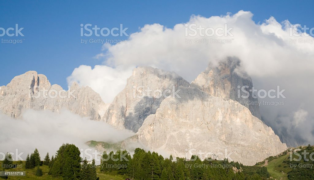 South Tyrol Mountain Range stock photo