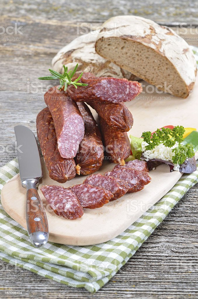 South tyrolean snack royalty-free stock photo
