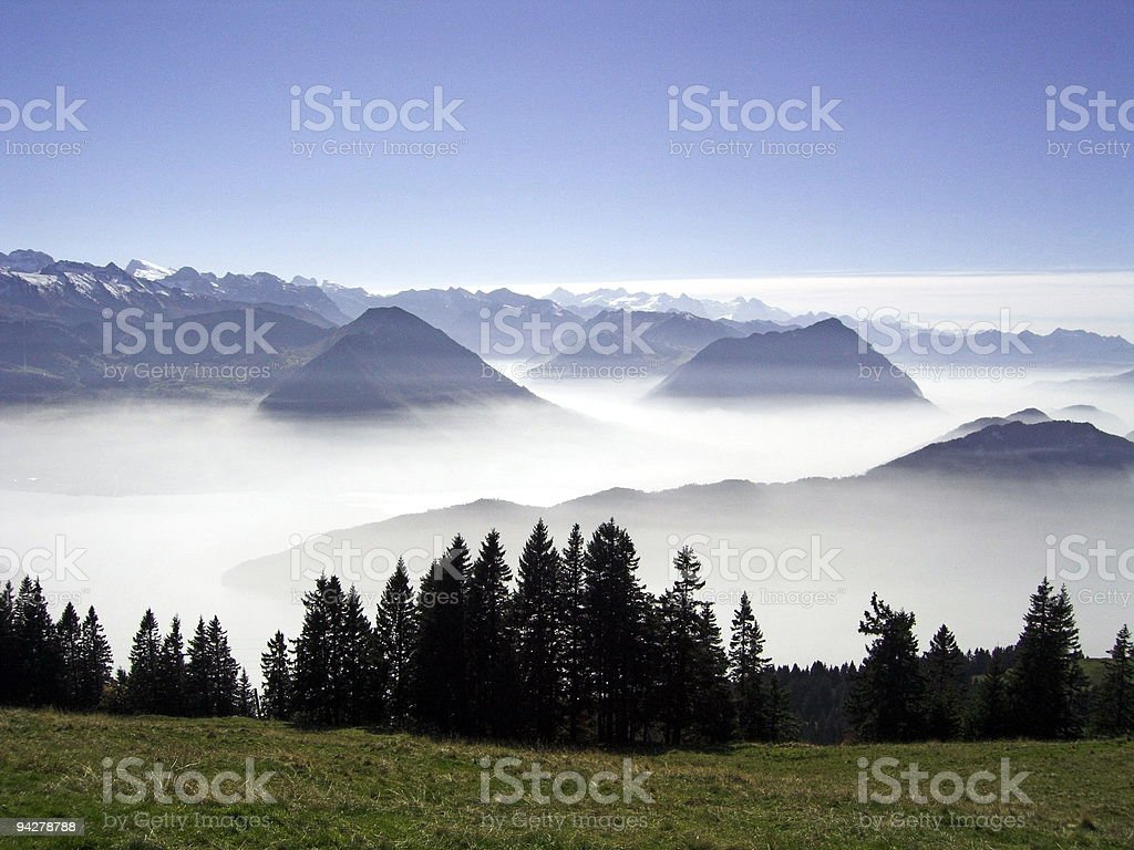 South view from Rigi royalty-free stock photo