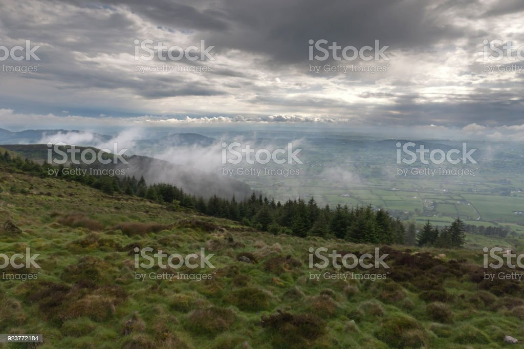 South View from Slieve Gullion stock photo