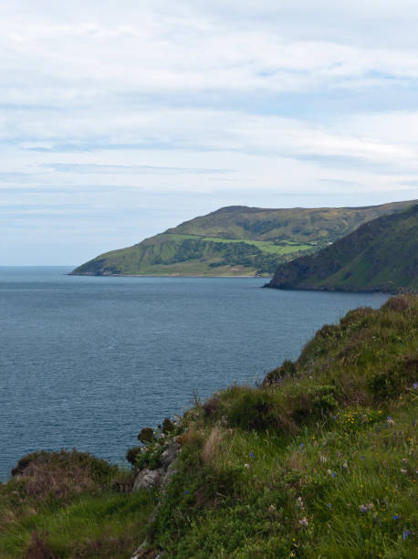 South View from Torr Head, TorCorr in Distance stock photo
