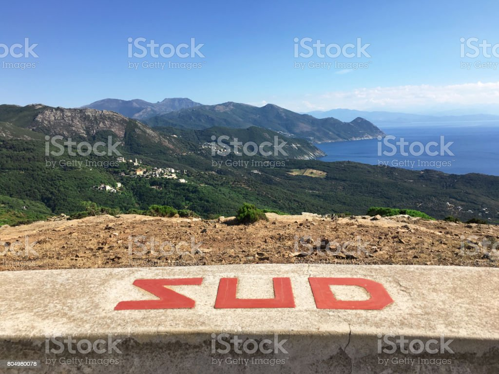 South view of Cap Corse. Corsica. foto stock royalty-free