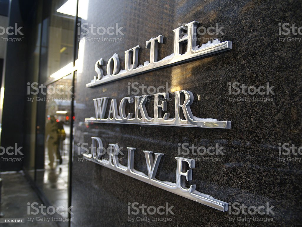South Wacker Drive stock photo