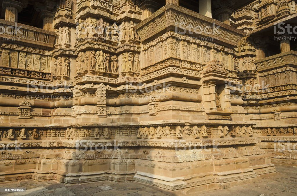 Lakshmana Temple South Wall Niche Ganesha Sculpture Western Group Khajuraho  Madhya Pradesh India Unesco World Heritage Site Stock Photo - Download