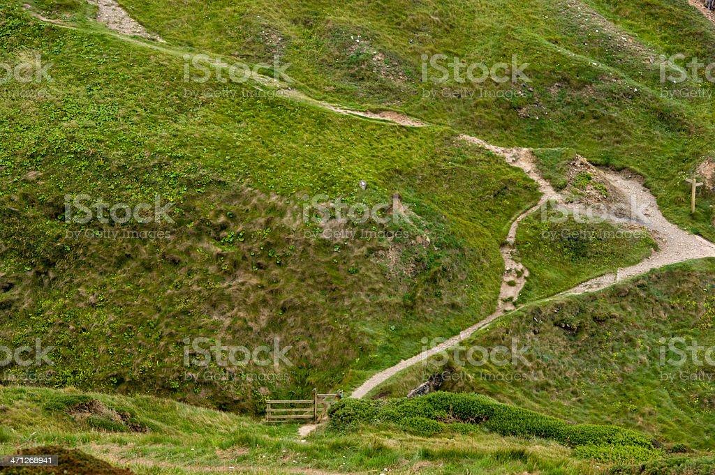 South West Coastal Path Hartland Point North Devon stock photo