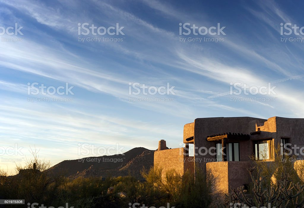 South West desert landscape dramatic sky stock photo