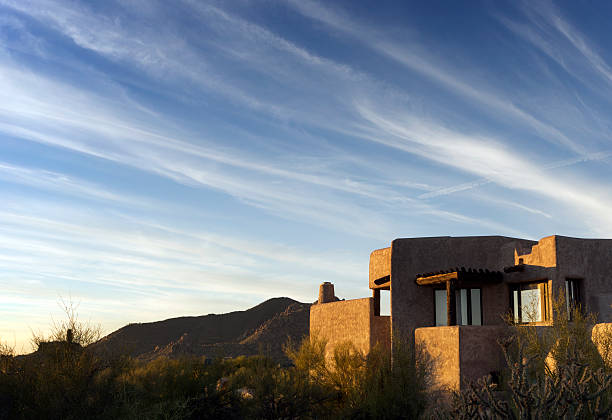 South West desert landscape dramatic sky stock photo