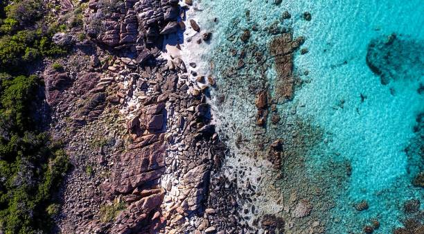 South West, Perth Australia Meelup Beach. South West Australia. Aerial view. rocky coastline stock pictures, royalty-free photos & images