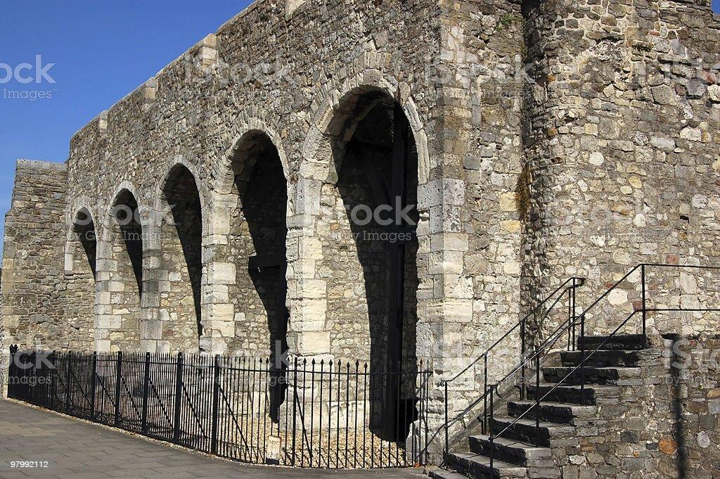 Southampton City Wall royalty-free stock photo