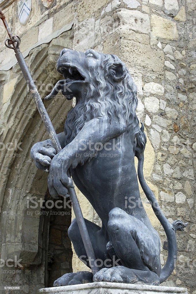 Southampton lion statue royalty-free stock photo