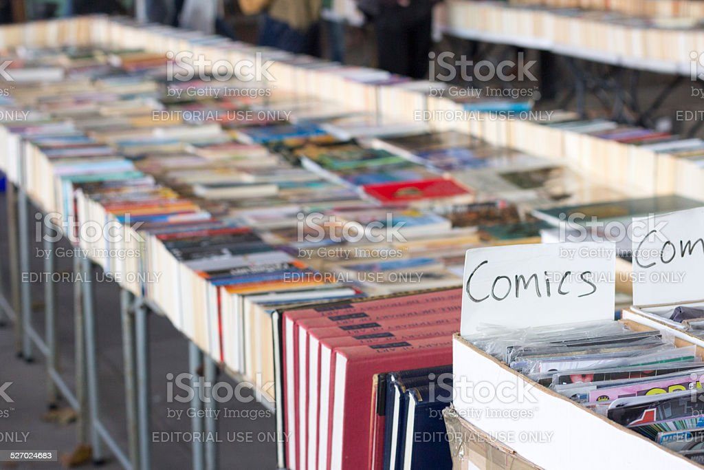 Southbank Book Market in London, England stock photo