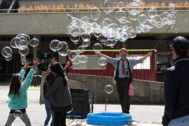 Show de burbujas de Southbank - foto de stock