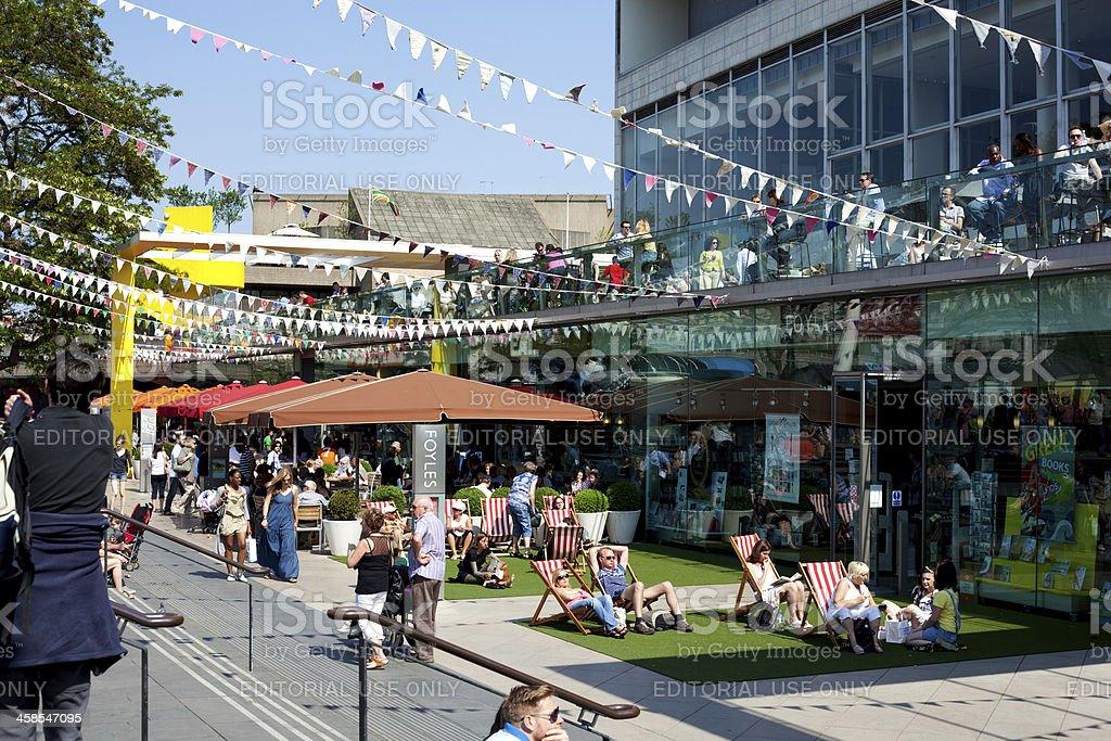 Southbank Centre, Festival of Britain 60th anniversary celebrations stock photo