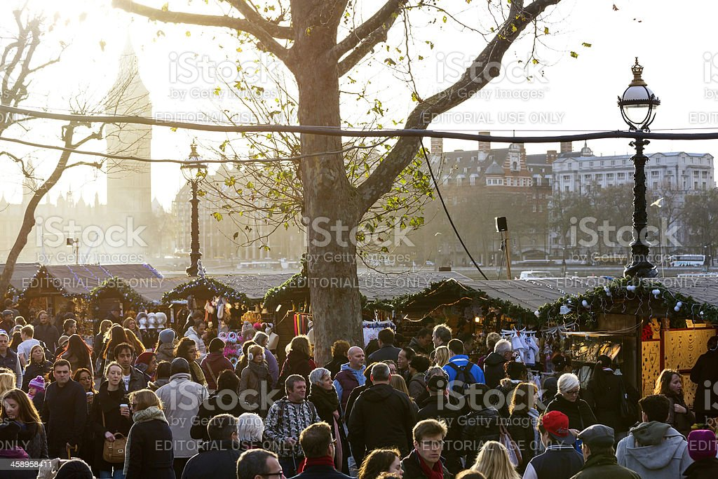 Southbank Christmas Market stock photo