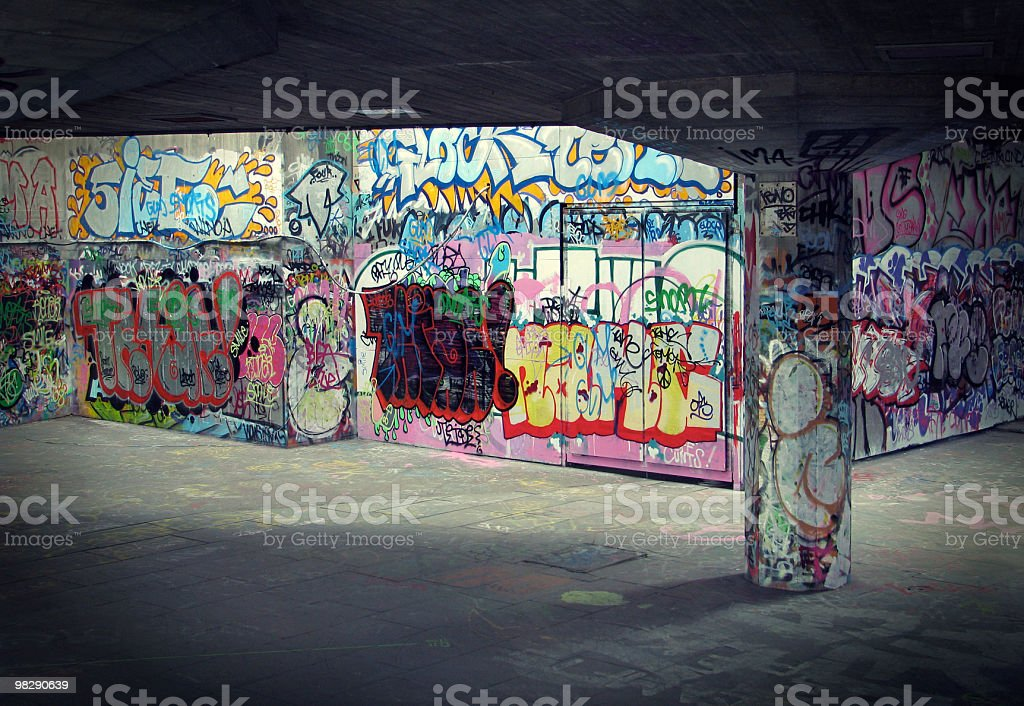 Southbank Graffiti royalty-free stock photo