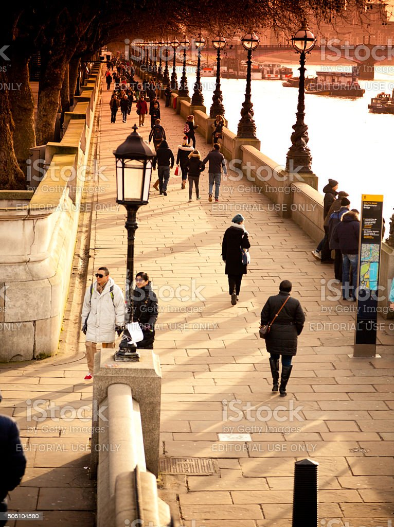 Southbank in Central London stock photo