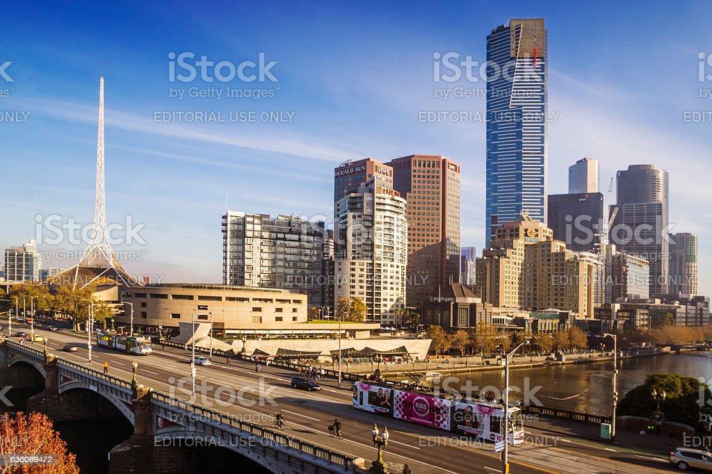 Southbank, Melbourne stock photo