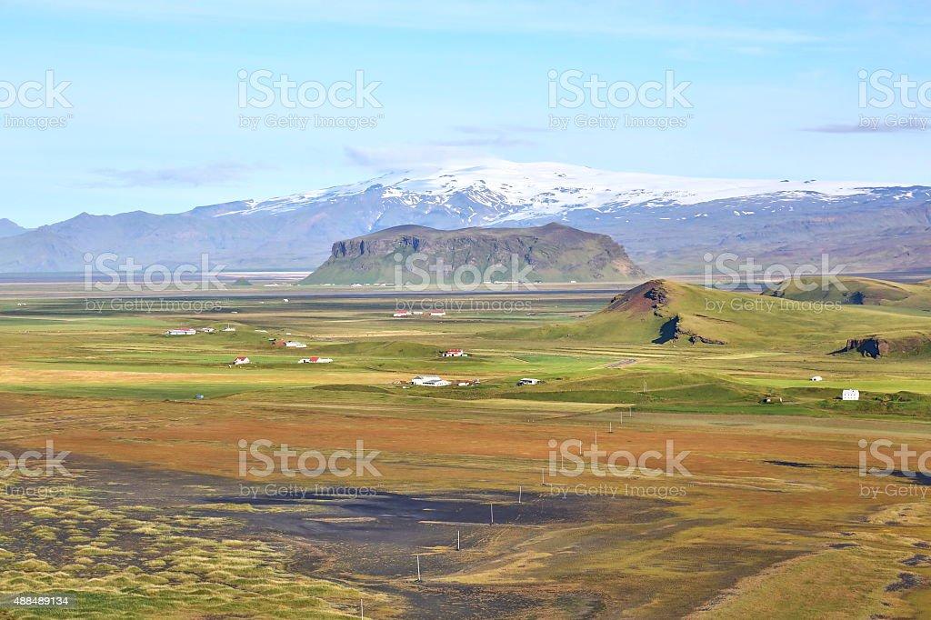 Southcoast landscape of Iceland stock photo