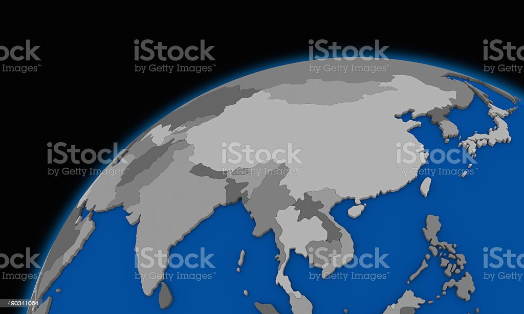 Picture of: Southeast Asia On Planet Earth Political Map Stock Photo Download Image Now Istock