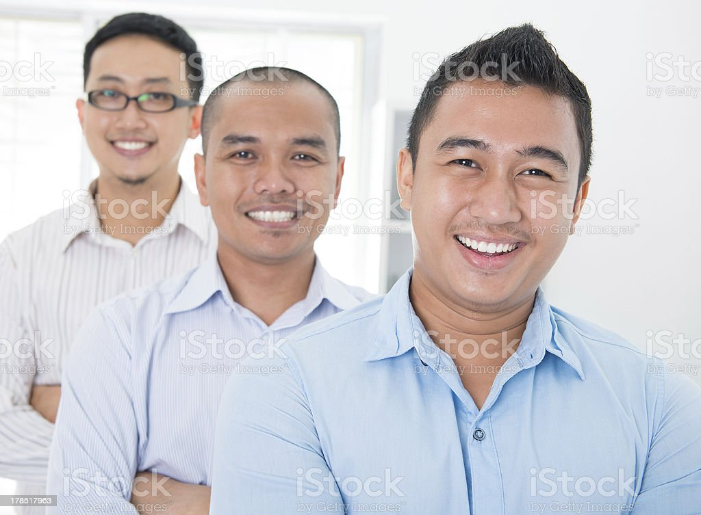 Southeast Asian business group royalty-free stock photo