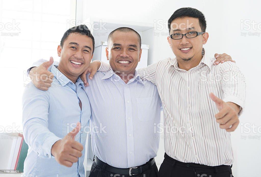 Southeast Asian businessmen royalty-free stock photo