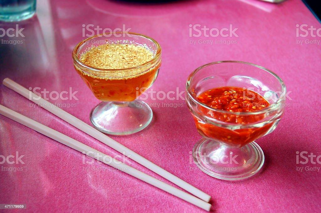 Southeast Asian Cuisine and Chopsticks stock photo
