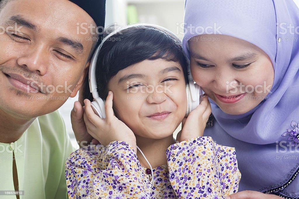 Southeast Asian family stock photo