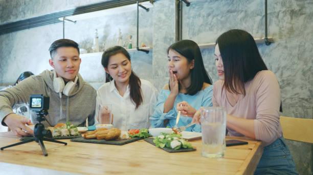 Südost asiatische Lebensmittel-Stylist Aufnahme Video-Lebensmittel-Vorbereitung. – Foto