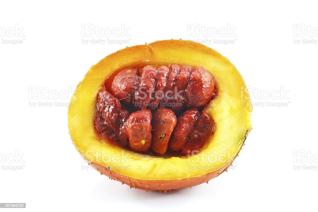 Southeast Asian fruit, commonly know as Gac royalty-free stock photo